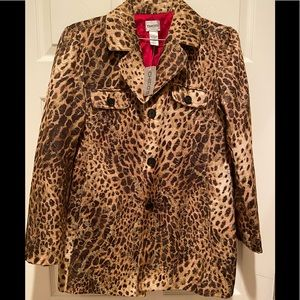 Chico's animal / cheetah print jacket or coat  🧥